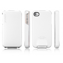 SGP Leather Case Argos Series [White] for iPhone 4, 4S (SGP06829S)